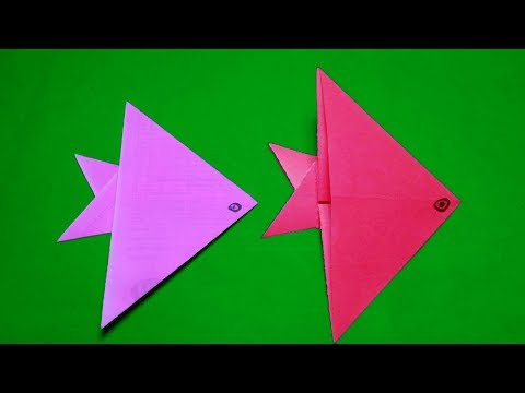 origami fish easy for kids#How to make Easy Origami Fish? DIY#papercraft