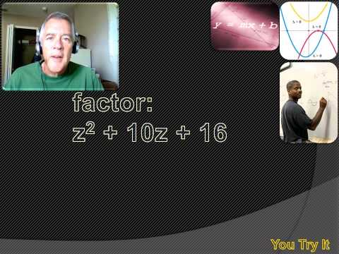 Algebra 1 - Factoring Quadratics Part 1