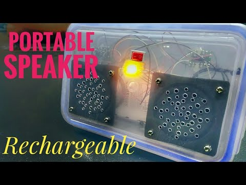 How to Make Rechargeable mini Portable Speaker