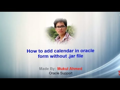 How to add Calendar in Oracle form without jar file