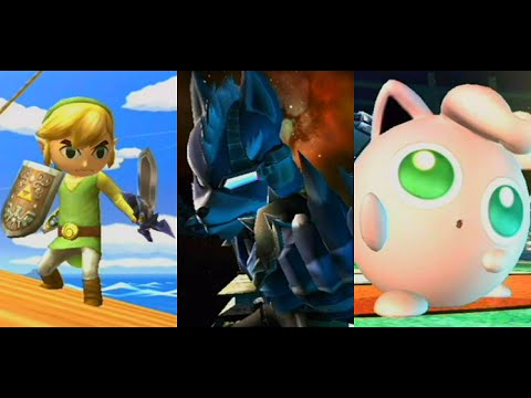 SSBB - The Subspace Emissary - Toon Link, Wolf, & Jigglypuff