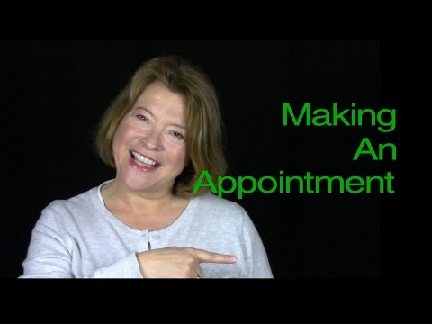 Making An Appointment | Telephone English