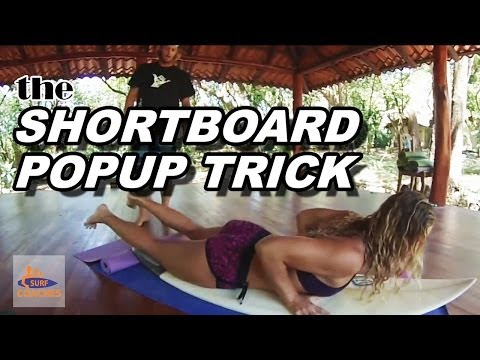 Surfing Lessons: How to Pop Up on a Shortboard