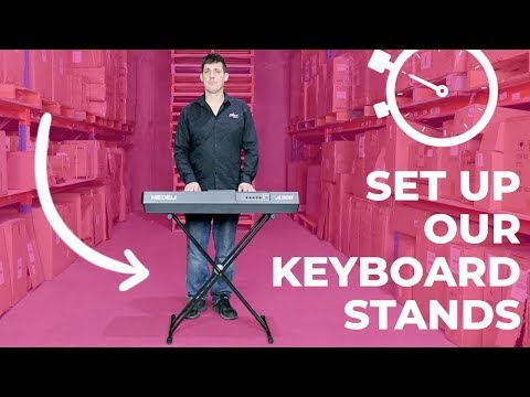 QUICK DEMO - How to Set Up Our Keyboard Stands