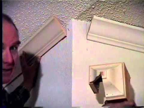 crown molding at a cathedral ceiling