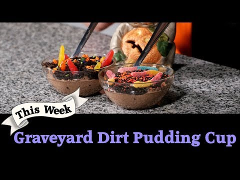 How To Make Fun Graveyard Dirt Pudding Cup 💀💩☕