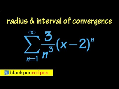 Radius and interval of convergence of a power series, using ratio test, ex#2