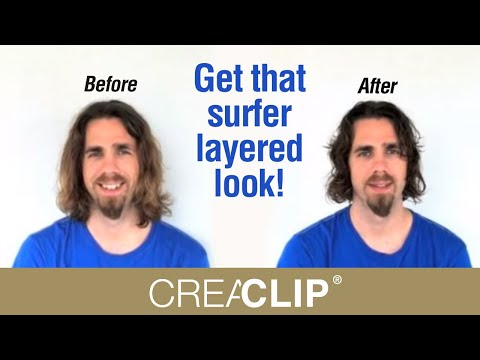 How to cut Men's Layer haircut long hair- Get that surfer layered look!