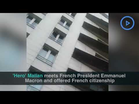 African superman gets French citizenship for saving child