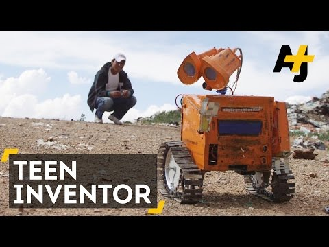 Bolivian WALL-E: Teen Inventor Makes Robots Out Of Trash