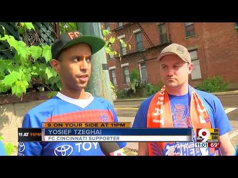 FC Cincinnati fans beat the drum for Major League Soccer