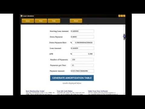 Loan Amortization Calculator Software
