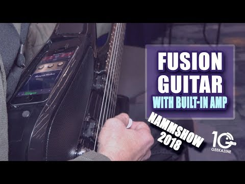Fusion Guitar with Built-In Amp, iOS adapter