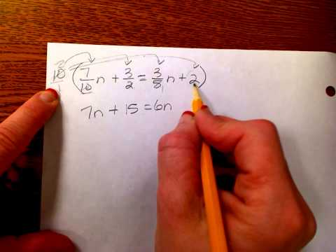 Solving equations with variables on both sides-Clearing the fractions and decimals