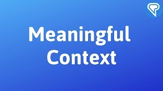 Meaningful context in language learning
