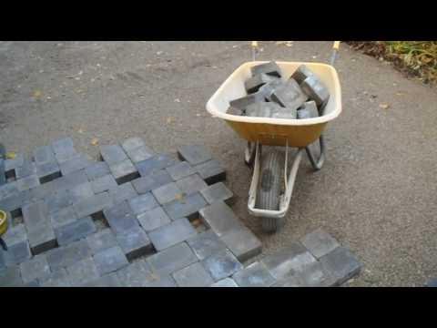New interlocking paver driveway installation, using UltraBase/SuperBase.