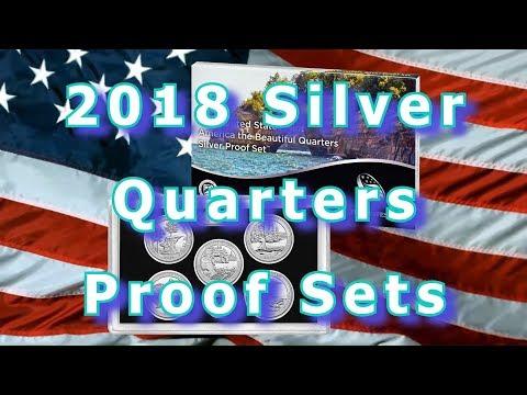 US Mint Releases 2018 Silver Quarters Proof Sets