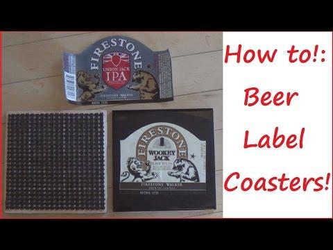 TUTORIAL!: Beer Label Coasters! | Sewing Nerd!