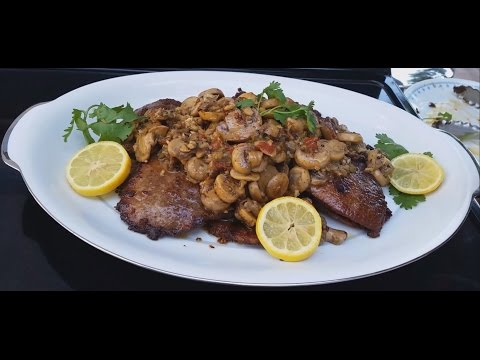 How to Pan Fried Beef Eye Round Steak | Steak with Mushroom Recipe