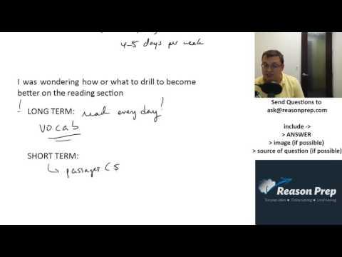 Improve SAT/ACT Reading Score - Short & Long Term - Just Pick C #29