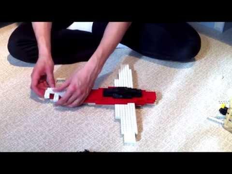 Building Red Little Propeller Plane in Lego