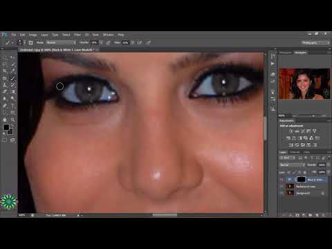 How to Change Eye Color in a few Minutes Photoshop cs6