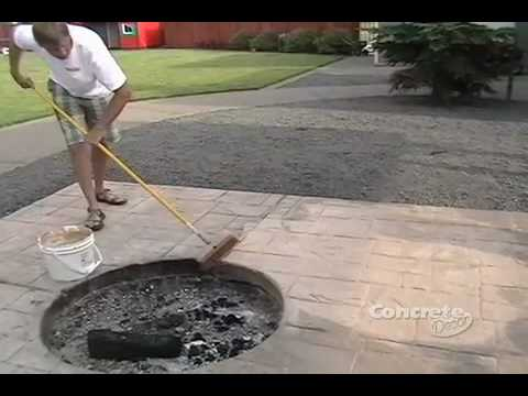 Restoring color to a stamped concrete patio