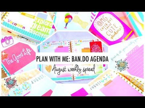 Plan with Me: BAN.DO Agenda | August Weekly Layout