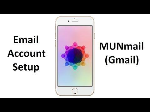 How to setup MUNmail (Gmail) account - iPhone/iPad