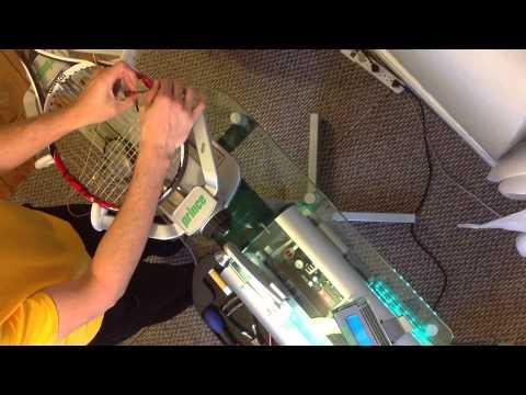 Stringing Tennis Racquet Luxilon 4G and Sensation