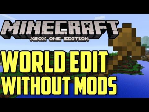 Minecraft Xbox One World Edit Tutorial (No Mods)