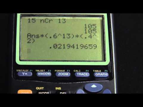 TI-83+ Binomial Probability