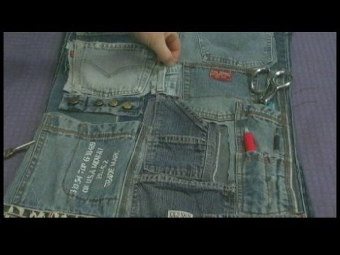 Recycled Jeans Organizer & Play Mat : Multi-Pocket Organizer: Uses for Pocket & Loops