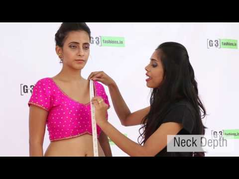 How to take Body Measurements for Custom Stitched Saree Blouse & Petticoat