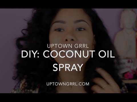 DIY: Coconut Oil Spray