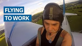He built an airplane and cut his commute by seven minutes