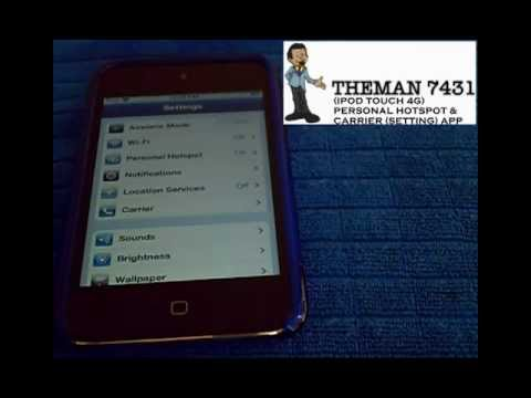 PERSONAL HOTSPOT (IPOD TOUCH 4G)