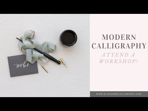 Modern Calligraphy Workshops with ElisaAnne Calligraphy