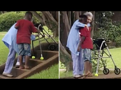 Boy Who Helped Elderly Woman Up Stairs: 'She Said I'm Special'