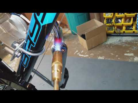 How to heat and bend your muffler on your 80cc motorized bicycle