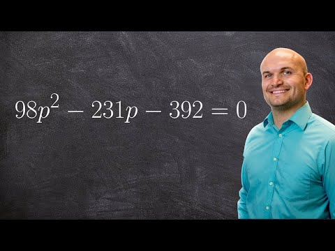 Solve an equation by factoring large numbers