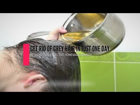 Get Rid Of Gray Hair In Just One Day, By Using This Effective Homemade Remedy