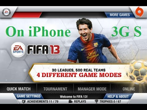 Fifa 13 on iPhone 3GS (after match drama penalties)