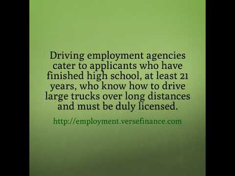 Make Money on the Road with Driving Employment Agencies