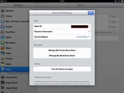 Changing Your Account Information Using An iPad