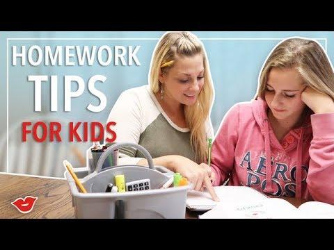 Homework Tips For Kids! | Kimmy from Millennial Moms
