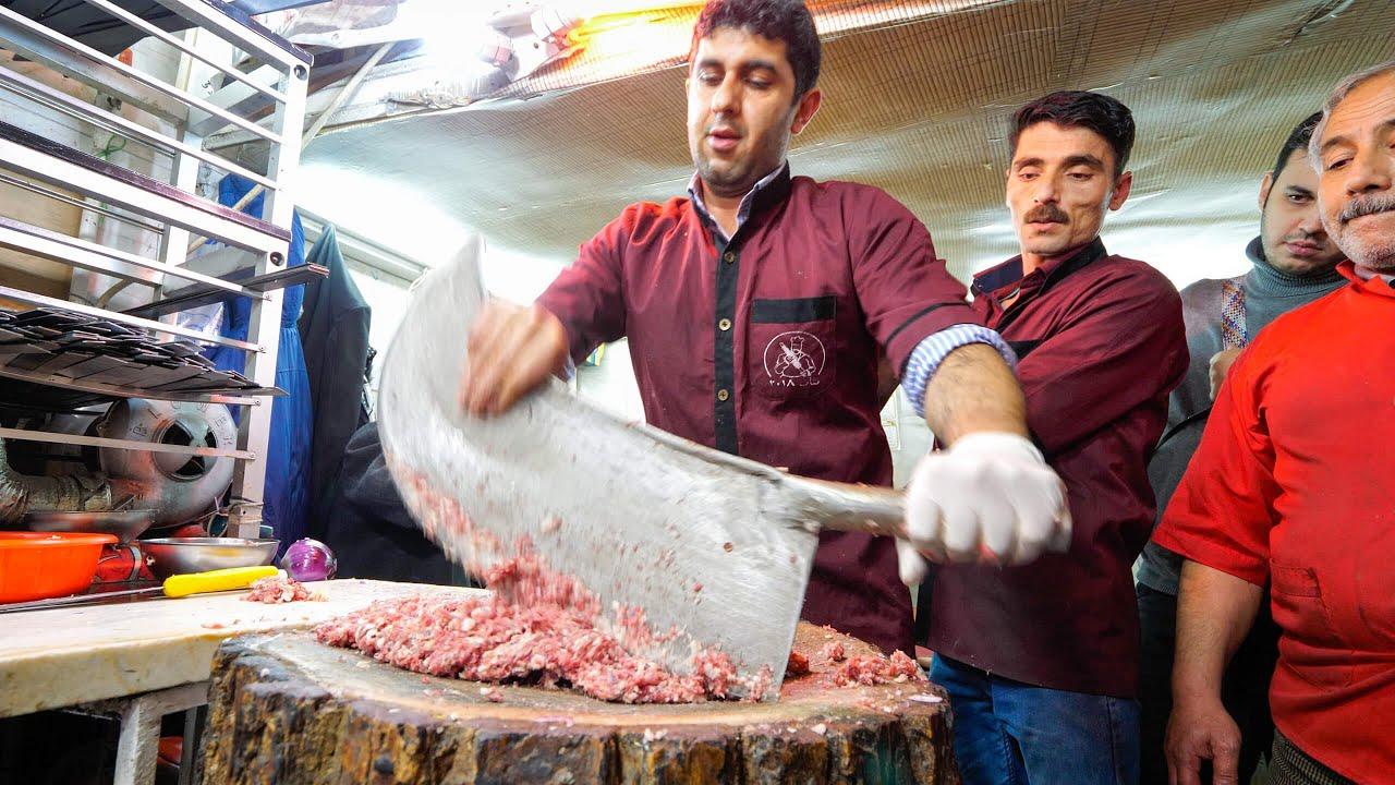 Meet the KEBAB KINGS of IRAN!! 🇮🇷SWORD CHOPPED Meat-Madness in Bonab! 🥩