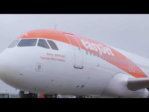 EasyJet's first female only flight for International Women's Day
