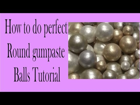 How to make same size Gumpaste fondant balls cake edges