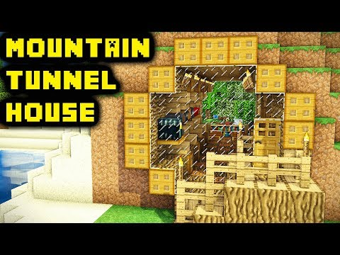 Easy Unique Minecraft Mountain Tunnel House Tutorial (How to Build)
